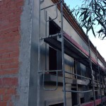 Mortero Gris en fachada
