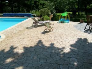 hormigón impreso zona piscina