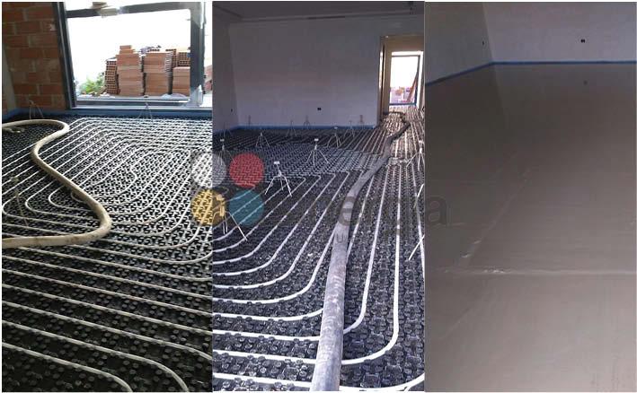Calefacción suelo radiante y autonivelante en Els Poblets - Alicante