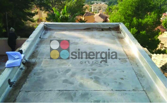 Impermeabilización EPDM para cubierta en chalet gandia