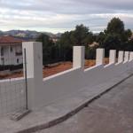 Muro de bloque hormigón