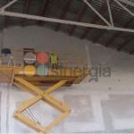 Proyección de yeso para nave Paco Martinez en Pedreguer