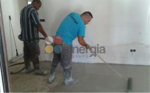 Trabajo mortero autonivelante en Xabia2