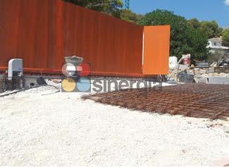 Hormigón impreso para rampa de garaje y zonas de terraza altea