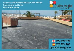 Impermeabilización EPDM en todo tipo de obras