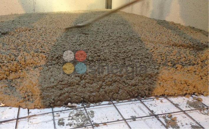 Proceso de hormigón fratasado para cliente en Benissa