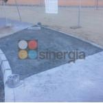 Reparación pavimentos de hormigón impreso en el instituto de Pedreguer